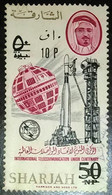 USED  STAMPS Sharjah - The 100th Anniversary Of I.T.U. - Previous Issue Surcharged--1966 - Sharjah