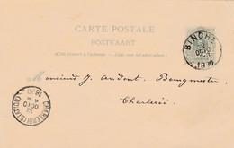 Carte Entier Postal 1890 Binche à Charleroi - Postales [1871-09]