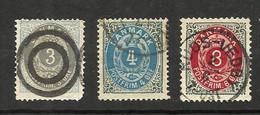 Danemark N°22(B) Cote 15 Euros (23(B), 24(A) Offerts) - Oblitérés