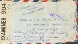 Correo Aéreo Accidentado. Sobre . (1952ca). Correo Aéreo Accidentado Dirigido A LA TRONCHE, Reexpedido A VILLARD DE LANS - Unclassified