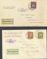 Alemania. Sobre Yv . 1924. Conjunto De Dos Cartas Circuladas Por El Zeppelin Z.R.3 (LZ126) Dirigidas A ESTADOS UNIDOS. E - Unclassified