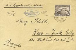 Alemania, Aéreo. Sobre Yv 37. 1928. 4 M Sepia. Graf Zeppelin Dirigida A NUEVA YORK (U.S.A.). Matasello FRIEDRICHSHAFEN / - Unclassified