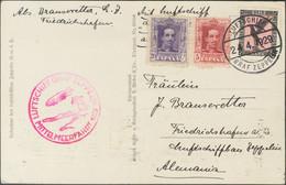 Alemania. Sobre 312, 316. 1929. 5 Cts Carmín, 20 Cts Violeta Y Sello De Alemania De 1 M Negro Y Rosa. Tarjeta Postal Por - Unclassified
