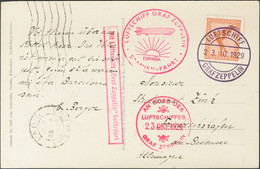 Alemania, Aéreo. Sobre 31. 1929. 50 P Naranja. Tarjeta Postal Por Graf Zeppelin Dirigida A FRIEDRICHSHAFEN. En El Frente - Unclassified