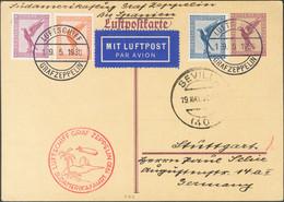 Alemania, Aéreo. Sobre 29, 30, 31. 1930. 15 P Violeta Sobre Tarjeta Entero Postal Por Graf Zeppelin Dirigida A STUTTGART - Unclassified