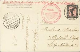 Alemania, Aéreo. Sobre Yv 32. 1930. 1 M Negro Y Rosa. Tarjeta Postal Por Graf Zeppelin. En El Frente Marca LUFTSCHIFF GR - Unclassified