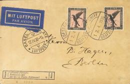 Alemania, Aéreo. Sobre Yv 32(2). 1930. 1 M Negro Y Rosa, Dos Sellos. Graf Zeppelin Dirigida A BERLIN. En El Frente Marca - Unclassified