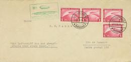 Alemania, Aéreo. Sobre Yv 35(4). 1931. 1 M Rojo, Cuatro Sellos. Graf Zeppelin Dirigida A RIO DE JANEIRO. Matasello FRIED - Unclassified