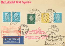 Alemania. Sobre 401A(3), 403, 414. 1931. 4 P Azul Claro, Tres Sellos, 8 P Verde Oscuro Y 80 P Amarillo. Tarjeta Postal P - Unclassified