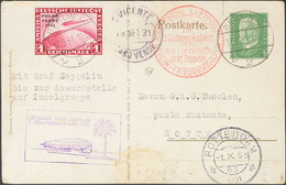 Alemania, Aéreo. Sobre Yv 40(2). 1931. 5 P Verde Amarillo Sobre Tarjeta Entero Postal De BERLIN A ROTTERDAM (PAISES BAJO - Unclassified