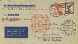 Alemania, Aéreo. Sobre Yv 31, 32. 1932. 50 P Naranja Y 1 P Negro Y Rosa. Graf Zeppelin De HAMBURGO A MANAOS (BRASIL). En - Unclassified