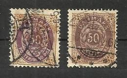 Danemark N°28(A) Et 28(B) Cote 60 Euros - Oblitérés