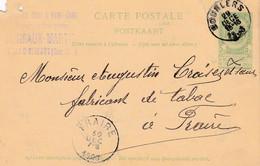 Carte Entier Postal 1908 Bourlers à Fraire - Postales [1871-09]