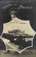 Passepartout CPA Mainz In Rheinland Pfalz, Stadthalle, Junge Mit Regenschirm - Other
