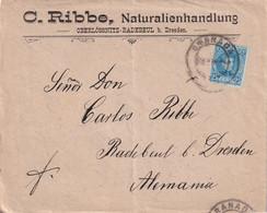 ESPAGNE   1905 LETTRE DE GRANADA POUR RADEBEUL - Briefe U. Dokumente