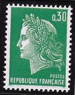 FRANCE 1969 MARIANNE DE CHEFFER  NEUF - 1967-70 Marianne De Cheffer