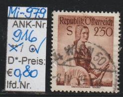 "1952 - ÖSTERREICH - FM/DM ""Österr. Volkstrachten""  2,50 S Rotbraun - O Gestempelt - S. Scan  (916o     At) - 1945-60 Usados"