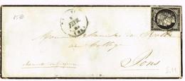 E1-N°3  Hirson Aisne Timbre Margé. - 1849-1850 Ceres