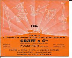 67 - Bas Rhin - Kogenheim - Fonderie Ets Graff - Catalogue 1956 - Non Classificati