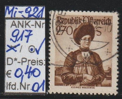 "1951 - ÖSTERREICH - FM/DM ""Österr. Volkstrachten""  2,70 S Dkl'braun - O Gestempelt - S. Scan  (917o 01-02    At) - 1945-60 Usados"