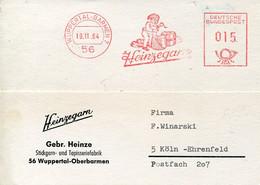 62504 Germany, Red Meter Freistempel Ema,1964 Wuppertal,feinzegard, Textil,stickgarn,Gnom,gnome, - Marcofilia - EMA ( Maquina De Huellas A Franquear)