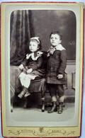 Photo CDV Fratrie Frère Et Soeur - Photo De Rothier à Reims - TBE - Alte (vor 1900)