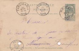 Carte Entier Postal 1899 Rhisne Farciennes Tamines - Postales [1871-09]
