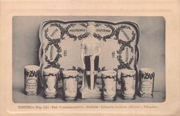 """0438 """"TORINO-ESPOSIZ. 1911-PAD. COMMEMORATIVO-GALLERIA-INDUSTRIA ITALIANA-(DESTRA)-PILONETTO-DITTA CAPPELLANO"""" CART - Other"""