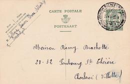 Carte Entier Postal Cachet Touristique Rochefort Grottes Et Promenades à Charleroi Villette - Cartoline [1909-34]