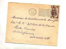 Lettre   Flamme Muette Bobo Sur Train - Lettres & Documents