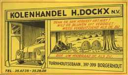 "Buvard Blotter Löschblatt BELGIQUE Deko "" Borgerhout - Bijenkorfjes & Kolenhandel H.Dockx "" - Gas, Garage, Oil"