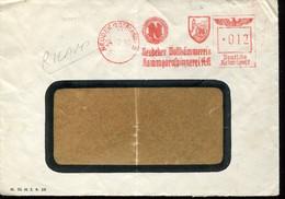 62506 Germany Reich,red Meter Freistempel Ema,neudek 1940 Worsted Spinning,kammgarnspinnerei,textil - Poststempel - Freistempel