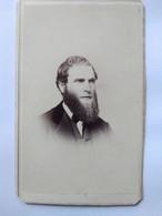 Photo CDV. USA - Portrait Homme Grande Barbe - Circa 1865 - Photo Tolles & Selly, N.Y - BE - Ancianas (antes De 1900)