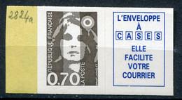 21025 FRANCE N°2824a** 70c. Brun + Vignette Marianne Du Bicentenaire   1993  TB - 1989-96 Marianne Du Bicentenaire