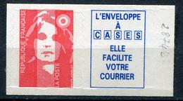 21026 FRANCE N°2874b** TVP Rouge + Vignette Marianne Du Bicentenaire   1994  TB - 1989-96 Marianne Du Bicentenaire