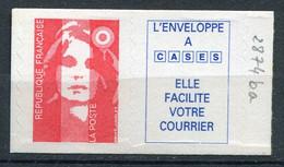 21027 FRANCE N°2874ba** TVP Rouge + Vignette (petit Caractère) Marianne Du Bicentenaire   1994  TB - 1989-96 Marianne Du Bicentenaire