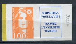 21028 FRANCE N°3009a** 1F Orange + Vignette  Marianne Du Bicentenaire   1996  TB - 1989-96 Marianne Du Bicentenaire