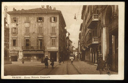 Varese Corso Vittorio Emanuele Animato 1930 Cairoli Commerciante Parrucchiere - Varese