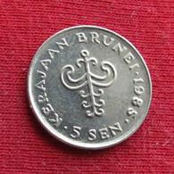 Brunei 5 Sen 1985 KM# 16 *V2 - Brunei