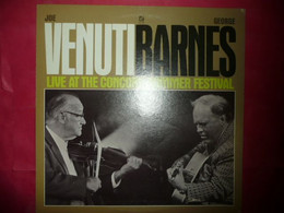LP33 N°7805 - JOE VENUTI GEORGE BARNES - LIVE AT THE CONCORD SUMMER FESTIVAL - CJ-30 - DISQUE EPAIS - Jazz
