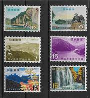 Japan 1959/67 Nationalparks   Mi.-Nr.708 - 709, 980 - 981, 983 - 984 **/MNH - Nuevos