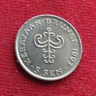 Brunei 5 Sen 1993 KM# 35 *V1 - Brunei