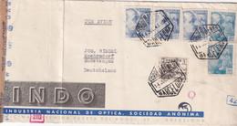 ESPAGNE 1943 LETTRE CENSUREE DE BARCELONA - 1931-50 Briefe U. Dokumente