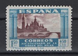 R09/ VIRGEN DEL PILAR 1940, MH* - 1931-50 Neufs