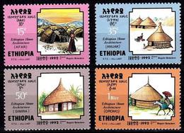 (340) Ethiopia / Ethiopie  Houses / Architecture / Edifices / Häuser  ** / Mnh  Michel 1413-16 - Äthiopien