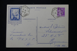 FRANCE - Entier Postal Type Paix De L 'Exposition Philatélique De Paris En 1937 ( Pexip ) - L 90775 - Standard Postcards & Stamped On Demand (before 1995)