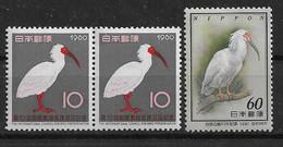 Japan 1960/81 Ibis   Mi.-Nr. 727, 1479   **/MNH - Picotenazas & Aves Zancudas
