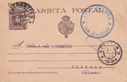 ESPAGNE 1903 ENTIER POSTAL/GANZSACHE/POSTAL STATIONARY CARTE DE SAN SEBASTIAN - 1850-1931