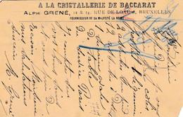 2 Scans Carte Entier Postal 1904 Armoire + 56 à La Cristallerie De Baccarat Bruxelles à Limoges - Postales [1871-09]