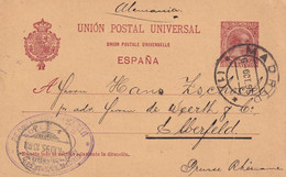 ESPAGNE 1895 ENTIER POSTAL/GANZSACHE/POSTAL STATIONARY CARTE DE MADRID - 1850-1931